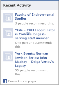 Recent Activity Facebook feed example image